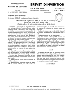 Dépôt de brevet de la grelinette